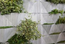 green walls, vertical gardens