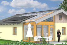 Holzhäuser 1 Geschoss / Planungsbeispiele von eingeschossigen Bungalows