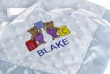 Personalized Baby Blankets / Enjoy some of these beautiful #personalized #baby #blankets from our collection. They feature embroidered artwork plus monogrammed baby names. / by Baby Blankets