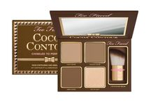 Cocoa Contour Face Contouring and Highlighting Kit / Lift cheekbones, look instantly slimmer, or sculpt like a celebrity with Cocoa Contour. Includes the two essential sculpting shades, the perfect matte highlighter and a luminous pop of light for a contoured look that never looks flat.