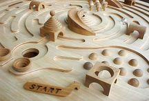 fa játék labirint