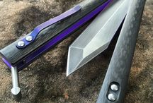 Balisong, Butterfly knife and similar