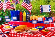 All-American Party / #4thofJuly #IndependenceDay - Fireworks, backyard bbq and good old Yankee Doodle -