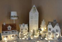 Casas de Natal, vilas, acessórios para vila natalina