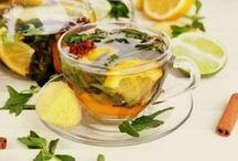 chá de limão,canela, gengibre