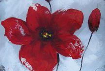 fleur a peindre