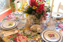 Spring Table Decor / Entertaining ideas for your spring table