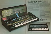 vintage poly analog synthesizers