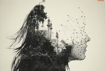 Double exposures with the human form