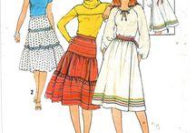 Vintage skirt & pants patterns