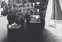Home sweet home / Interior design, bedroom , black and white ,