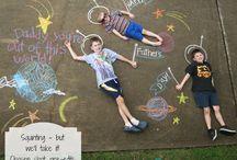 school - street art stoepkrijt