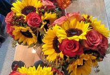 wesele żółto bordowe