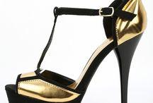 Qupid Dazzling-136 Metallic Heels GOLD