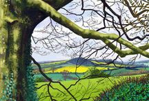 Jeff Parker Art / iPad drawings of the Ryedale landscape in beautiful North Yorkshire