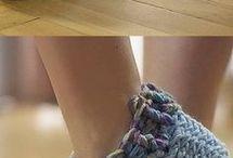 Crotchet slippers