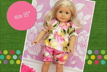 """18"""" Doll PDF Patterns by Create Kids Couture / Doll patterns available for purchase by www.createkidscouture.com"""