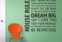 Fun for Home / Create your own wording and stick it!