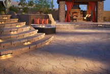 Perfect Patios / When it`s time to take life outdoors, Belgard pavers play the perfect host - whether it`s upscale alfresco dinner parties or everyday wear-and-tear from the kids. And though the youngsters won`t notice the intriguing patterns or Old World charm, you can bet your guests certainly will. While Belgard pavers are often compared to stamped concrete, the only real similarity is the cost. Belgard pavers are not only more beautiful, but also more durable and crack resistant. / by Belgard Hardscapes