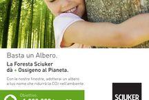 #Sciuker4Planet / In Sciuker poniamo da sempre grande attenzione alla sostenibilità e alla responsabilità sociale d'impresa. Un impegno che si traduce nel progetto #Sciuker4Planet.  Insieme ai nostri partner, nasce in Italia la Foresta Sciuker, con l'obiettivo di ridurre l'effetto serra ed il riscaldamento globale.