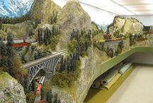 Beautiful scenery track planning for model train layout