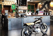 Motorcycle cafe mood board