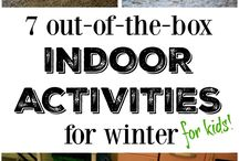 Indoor activities / Indoor activities for kids, forts, classic games, keeping kids active inside in winter or on a rainy day