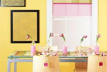 HOME: Pale Pink * Pale Yellow