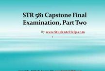 STR 581 Capstone Part 2