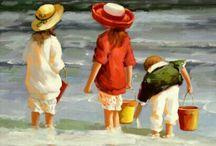 bambini da dipingere