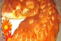Пирог с тушеной капустой