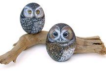 Owl rocks painted
