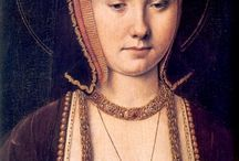 Katharine of Aragon / Portraits of Henry VIII's first wife and related costume resources