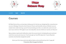 Make Science Easy / Everything about the Make Science Easy webpage