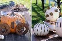 Decorating with pumpkins / autumn - fall,   decorating ideas with pumpkins
