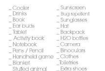 list of Summer Holiday