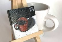 Tiny Canvas Paintings