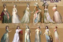 14tes bis 19tes  jahrhundert modestil dresses