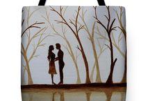 bag, romance, paintings