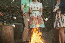 themed wedding: camping Wedding