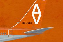 Logos y Afiches Empresas Aéreas Colombianas
