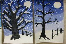 Talviaiheisia kuvistöitä