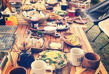 キャンプ野外料理