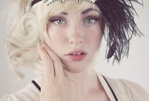Gatsby Flapper 20s styles for Long Hair
