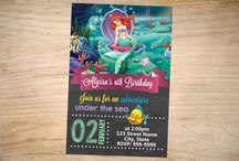Invitaciones de La Sirenita Ariel