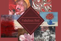 Reds / Examples of artworks matching specific red colors for home decor and interior design