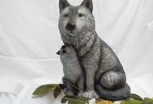 Keramik wolf