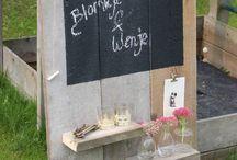 wandbord / pallet / steigerhout