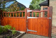 Wooden Driveway Gates / Wooden driveway gates and entrance gates. Some of our installed gates range. Constructed by hand from either slow grown Redwood Pine, Western Red Cedar or Iroko Hardwood. All gates can be made to measure, electric or manual opening, with or without installation. Browse some of our designs below or visit our website for more info. https://www.gatesandfencesuk.co.uk/driveway-gates-120-c.asp
