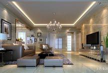 sufit podwieszany salon